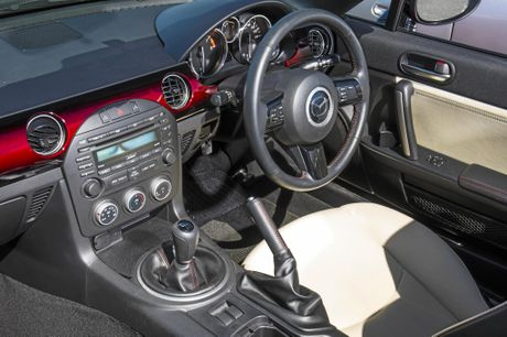 Inside the Mazda MX-5 NC.