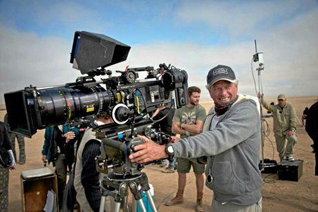 John Seale on the set of Mad Max: Fury Road.