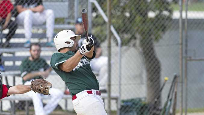 BIG HITTER: Jesse Miles bats for Warriors in the previous round.