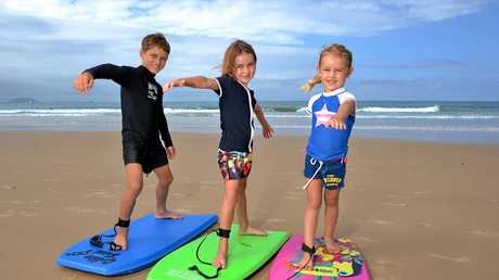 LOVING IT: The Hindmarch kids were on the Coast back in 2014 loving it.