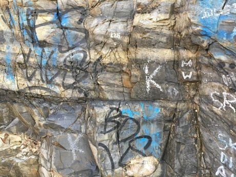European back packers are being blamed for littering, graffiti and the dangerous practice of rock piling now destroying Noosa National Park.