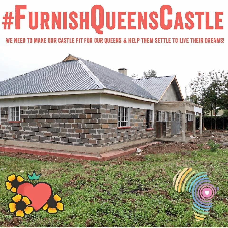The 'Queen's Castle' has been built in Kenya, thanks to the work of Lennox Head woman Sarah Rosborg and her charity Rafiki Mwema.