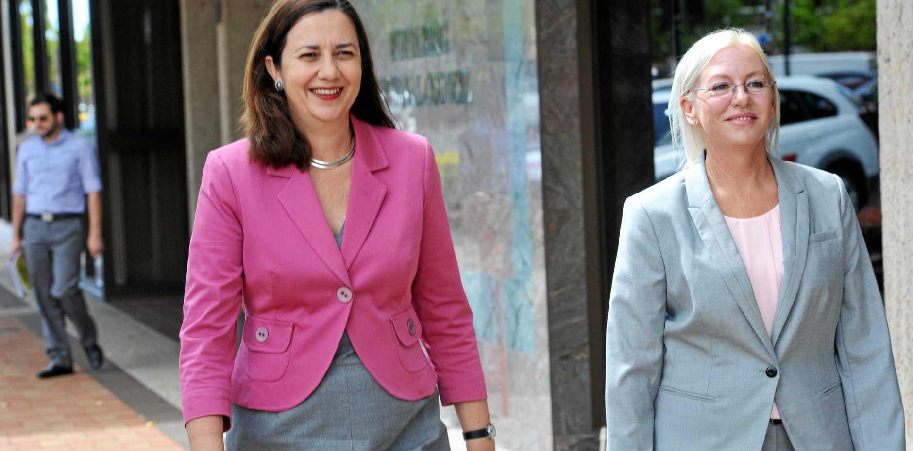 Premier Annastacia Palaszczuk with Bundaberg MP Leanne Donaldson before the last election.