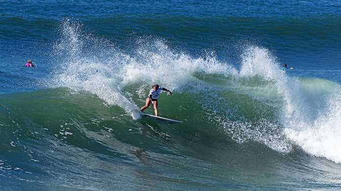 NORTH SHORE POWERHOUSE: Dimity Stoyle has been a main surfer for her club in the Battle of the Boardriders.