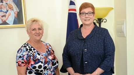 Federal Member for Capricornia Michelle Landry MP with the Australian Defence Minister Senator the Hon. Marise Payne in Rockhampton.