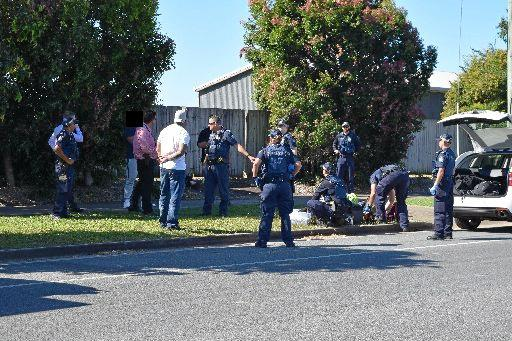 Police arrest five people in Ooralea in August following an alleged robbery.