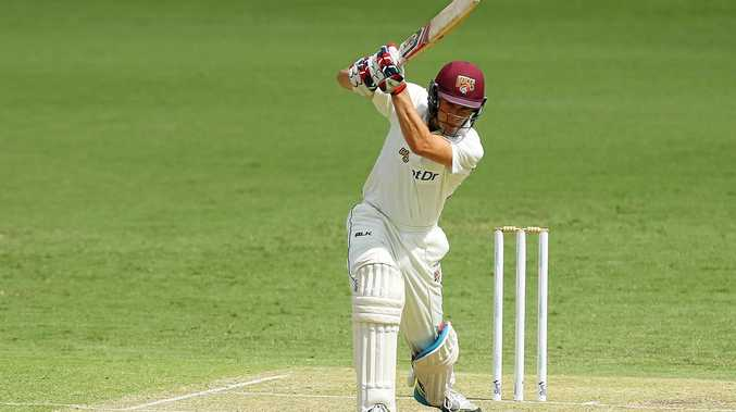 Sam Heazlett of Queensland bats against Victoria at the Gabba last season.