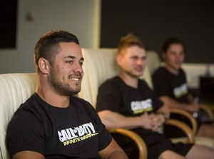 Jarryd Hayne trains at Call of Duty academy
