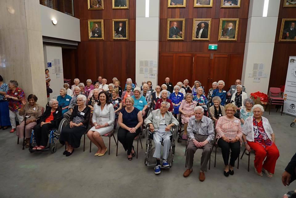 Annastacia Palaszczuk held a luncheon for Queensland's centenarians. (Source: Facebook.)