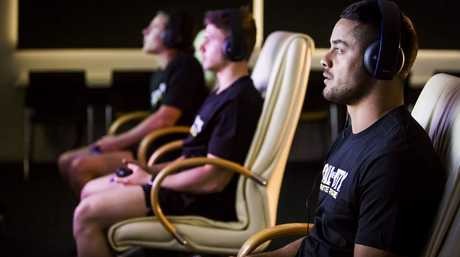 Jarryd Hayne joins eSports athletes in trying out the 'Call of Duty: Infinite Warfare Academy' training program.