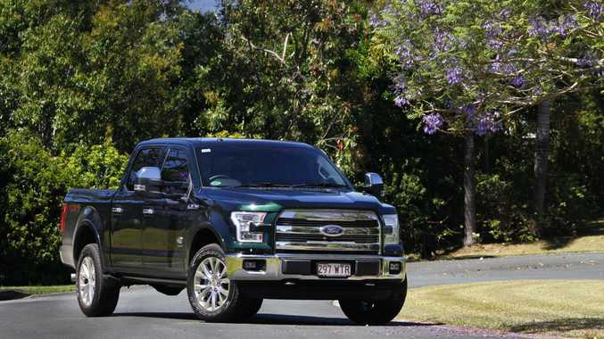 GREEN GIANT: Harrison F-Trucks converted Ford F-150 King Ranch uses a 3.5-litre V6 turbo petrol engine and can tow 4000kg.