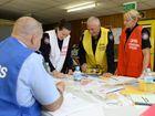 Emergency training at the Ipswich SES base on Wednesday.
