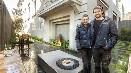 Will and Karlie in their second-placed challenge apartment courtyard.