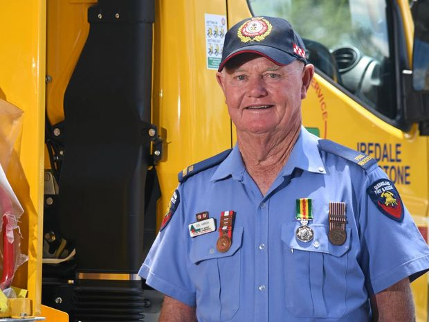 Hatton Vale Summerholm Fire Warden Colin Harch received his second, third and fourth National Medal Clips at the Rural Fire Service service awards.