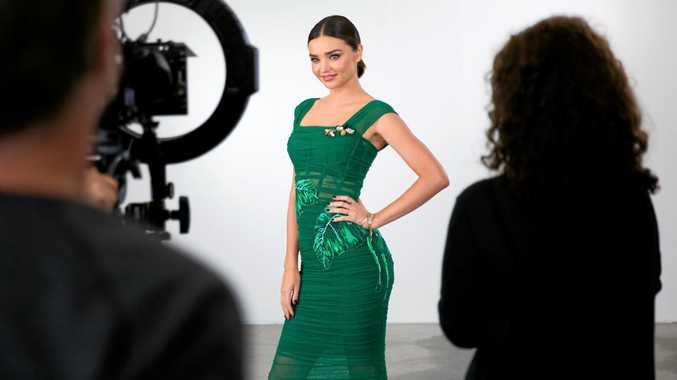 Miranda Kerr pictured on the set of the TV series Australia's Next Top Model.