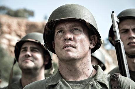 Damien Thomlinson in a scene from Hacksaw Ridge.