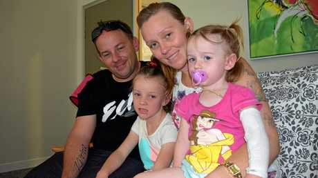 Tim and Tyanah Willams and their daughters, six-year-old Kirra (left), and two-year-old Willow, from Kingaroy, are regular visitors to