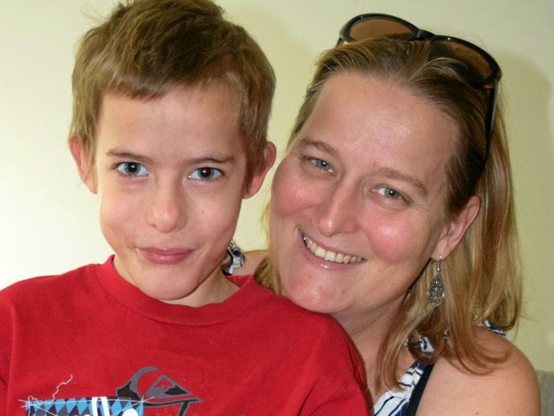 Kylie Tame and her 10-year-old son Reagen, who live in the Whitsundays, say Ronald McDonald House in Brisbane is their home away from home.