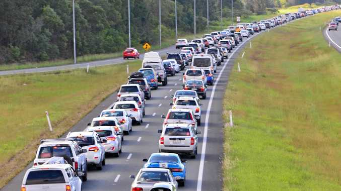 Traffic congestion on the Bruce Highway.