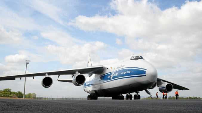 Antonov-124-100 landing at Rockhampton airport. Photo Allan Reinikka / The Morning Bulletin