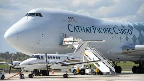 Three weekly Cathay Pacific 747-8 jumbo cargo planes could be a reality from Wellcamp Airport as soon as April next year.