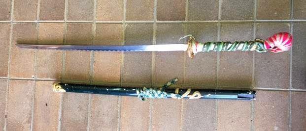 Police seized this samurai sword during a routine job in Coraki.