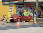 The two vehicle crash on Hospital Rd at 5.50am Friday morning.Photo Karin-Ane King / CQ News