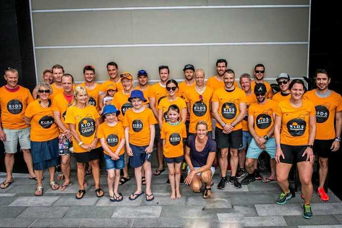 Yamba triathlete Robert Lennon was one of a large group of athletes to compete in the Noosa Triathlon while raising money for the KIDS Foundation.