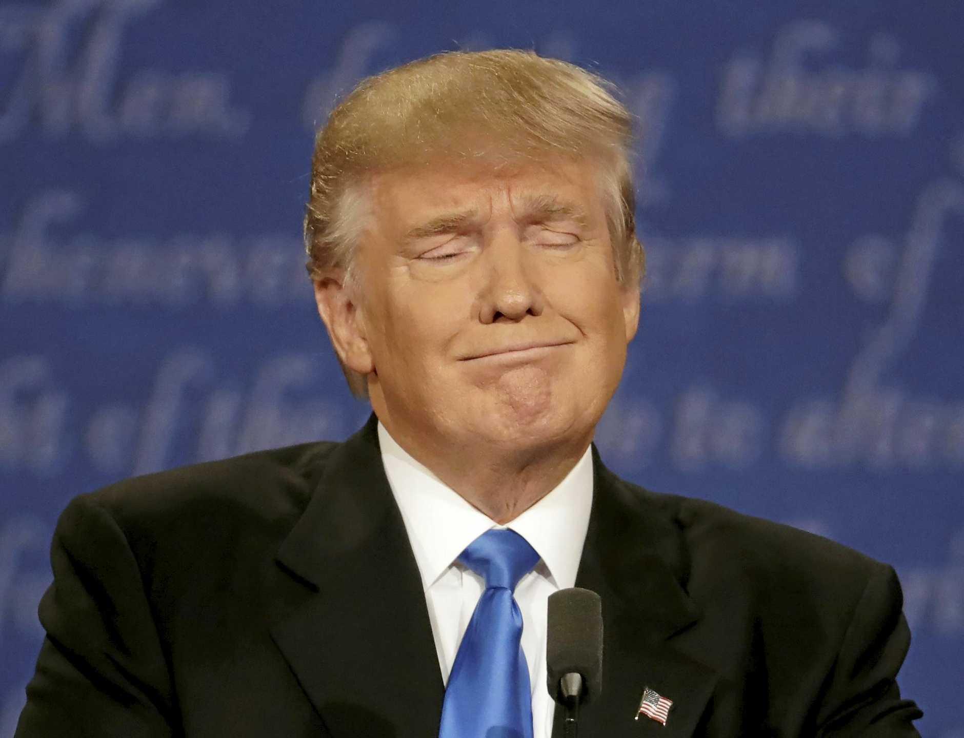 Trump #2: The tight-lipped smile.