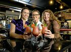 YUM: Kelly Churchill, Katie Baynham and Josephine Cory taste test the new Frosé beverages available at the Pumpyard.