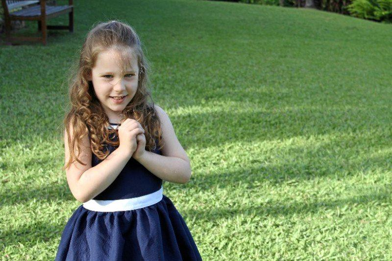 Olivia, 7, rescued both of her brothers from their wrecked car after it crashed.