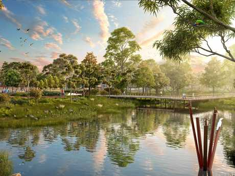 Waterlea will have a district park for residents and visitors.