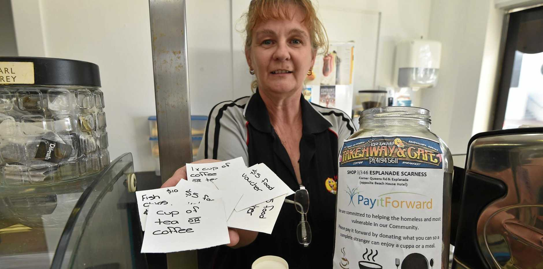 Many businesses are making it easy for their customers to Pay it Forward.