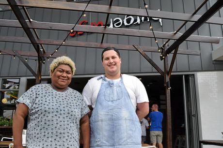 Burger Urge operations manager Dorah Rei and store manager Brandan Tranberg.