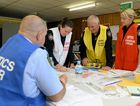 IN ACTION: Emergency training at the Ipswich SES base on Wednesday for Operation Fortitude.