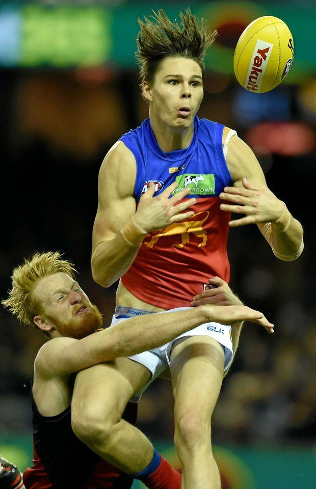 HOT PROSPECT: Eric Hipwood enjoyed a promising maiden season with the Brisbane Lions.