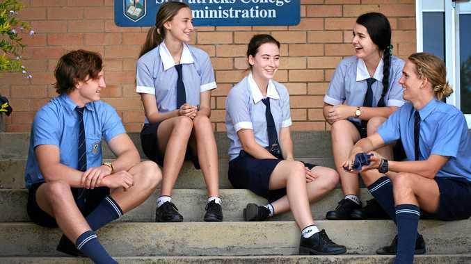 St Patrick's College students Tristan Watson, Anna Murley, Belarna Pertot, Elise Batt, Liam Window.