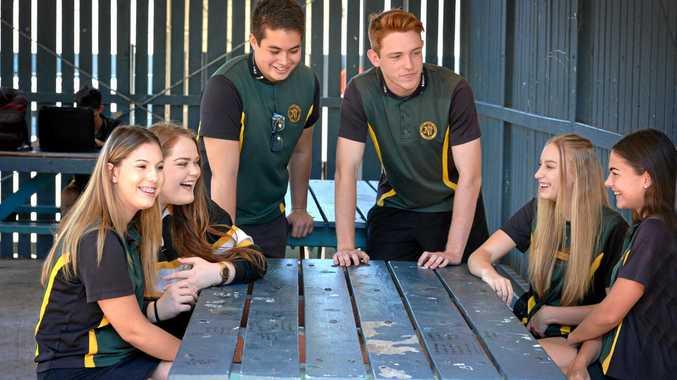 James Nash students Chloe Maynard, Kirra Sillitoe, Kieren Gibson, Luke Devey, Taillah Henwood and Genieva Livingstone.