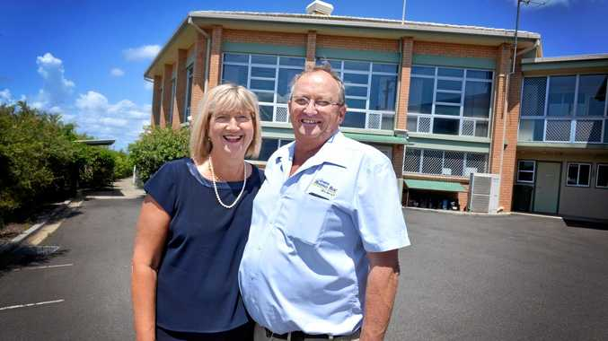 EXPRESSIONS OF INTEREST: Marg and John Cochrane at the old Winston house building, now on the market in Gympie.