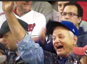 Bill Murray weeps as beloved Cubs win after 108 years
