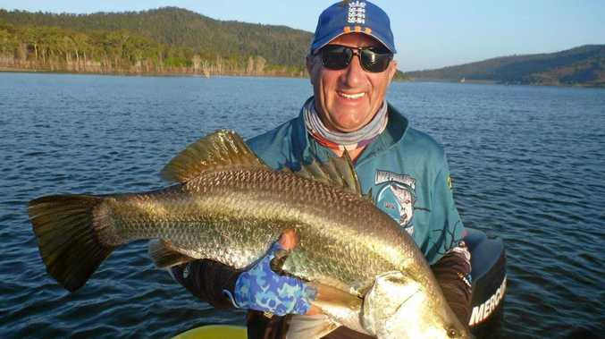 Phill Lyons landed this barramundi at Peter Faust Dam while competing in the 2015 Barra Tour.