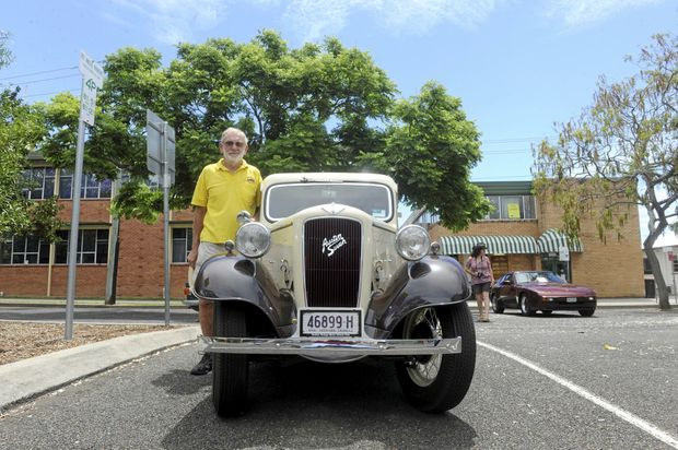 OLD BUT NEW: Jim Leslie from the Grafton Vintage Motor Vehicle Club with his Austin Seven that he restored himself.