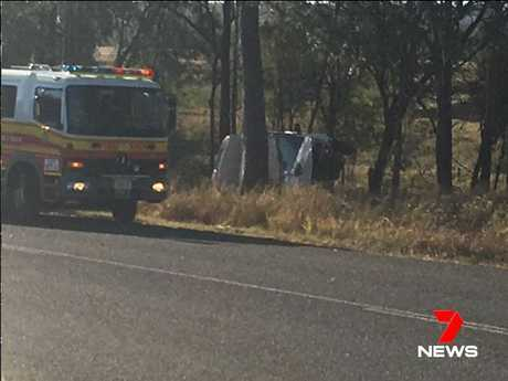 A man has died in a single-vehicle crash in the Lockyer Valley this afternoon.
