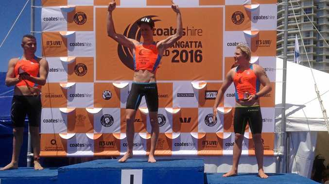 GOING FOR GOLD: Campbell Guthrie managed fastest overall time in the Coolangatta Gold.