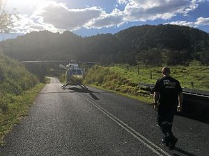 Motorcyclist flown to Brisbane in critical condition