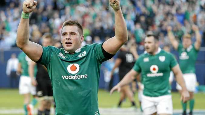Ireland's CJ Stander celebrates after his side's win over New Zealand in Chicago.