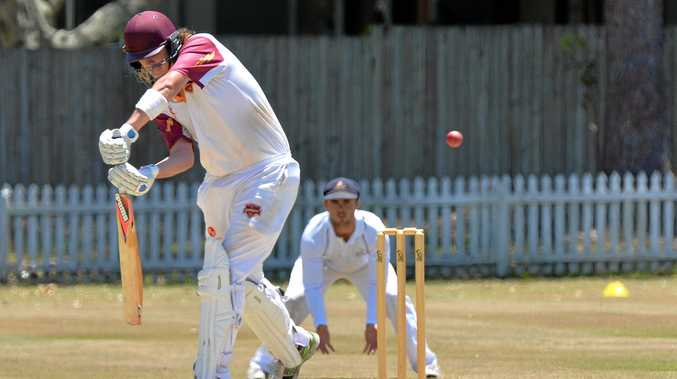 ON THE FRONT FOOT: Tewantin/Noosa batsman Lachlan Gunner.
