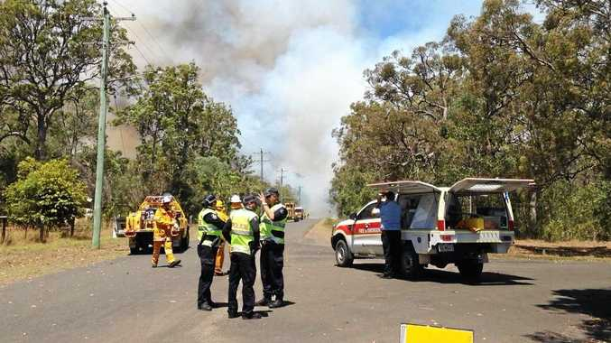 DANGER: Major fires are burning to Gympie region's south and north and residents have been warned to take action.