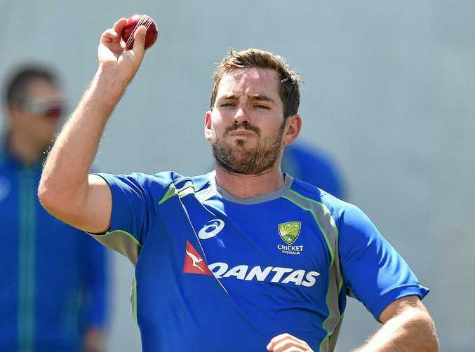 Chadd Sayers during an Australian cricket team training session.