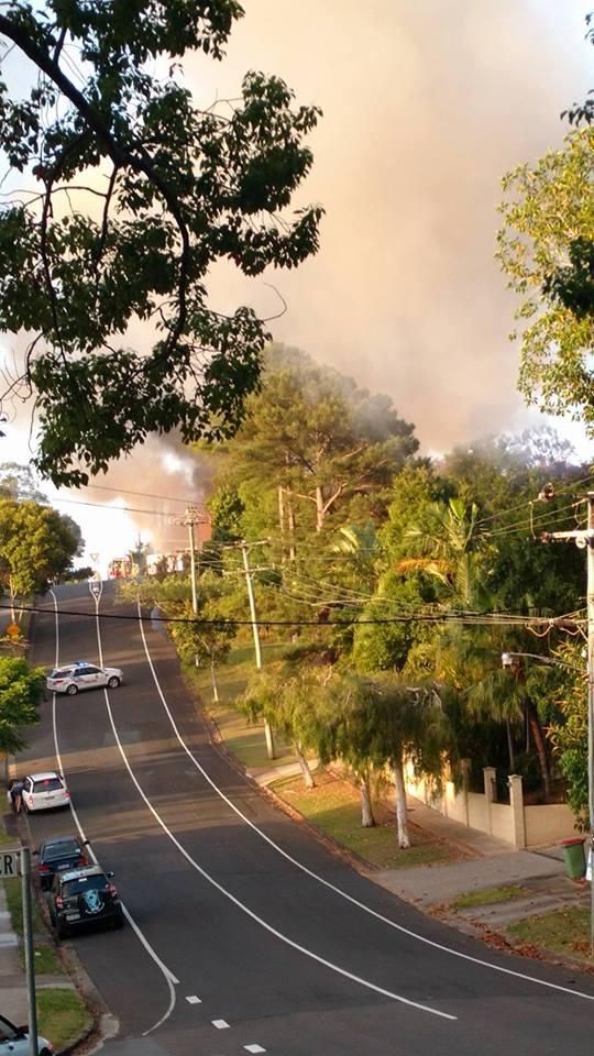 The scene of the fire in Nambour. Photo: Krystal Barrett via Facebook